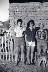 Sally Lord (middle) and her sisters on the Lord Ranch on today's Ironwood Forest National Monument. See story in Spring 2013 newsletter.